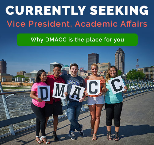 Currently seeking a vice president of academic affairs