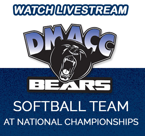 Watch Livestream. DMACC Bears Softball Team at National Championships