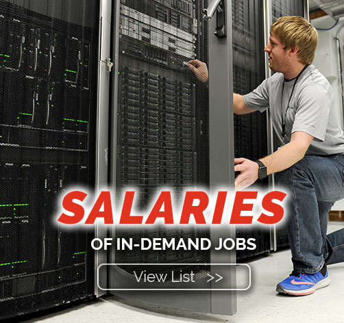 Salaries of in-demand jobs!