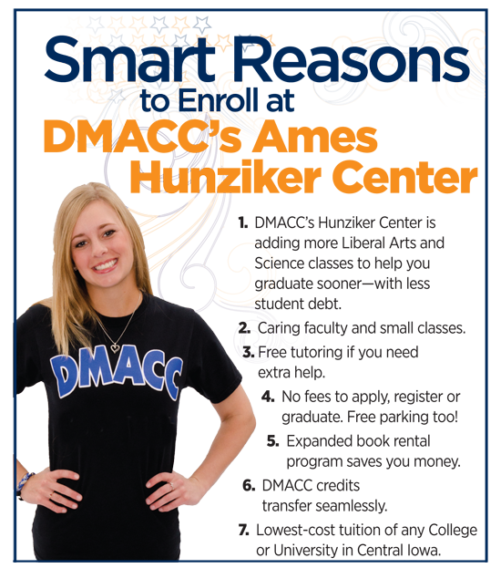 Smart Reasons to Enroll at DMACC Ames Hunziker Center