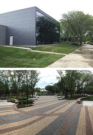 Exterior shots of the Student Center