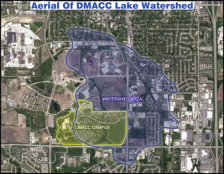 Aerial view of DMACC Lake Watershed
