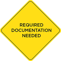 Required Documentation Needed