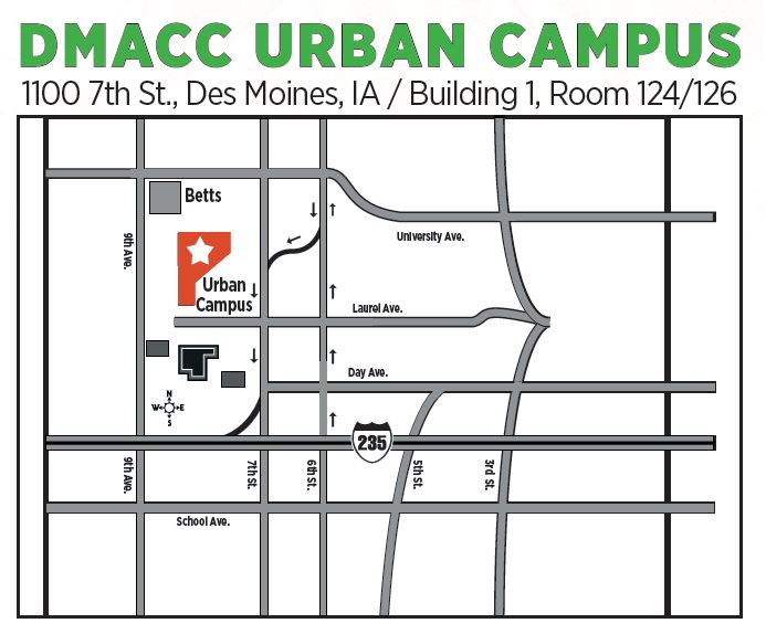 Urban Campus Map