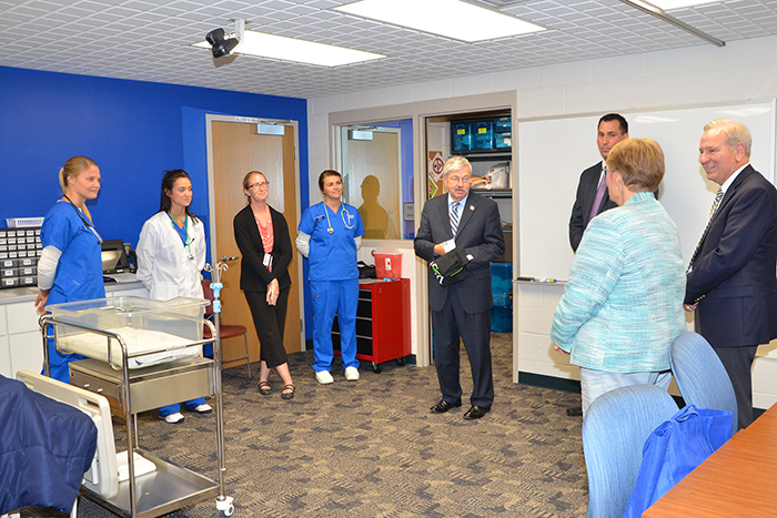 The governor visits Carroll Nursing