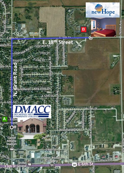 DMACC Carroll Housing Map