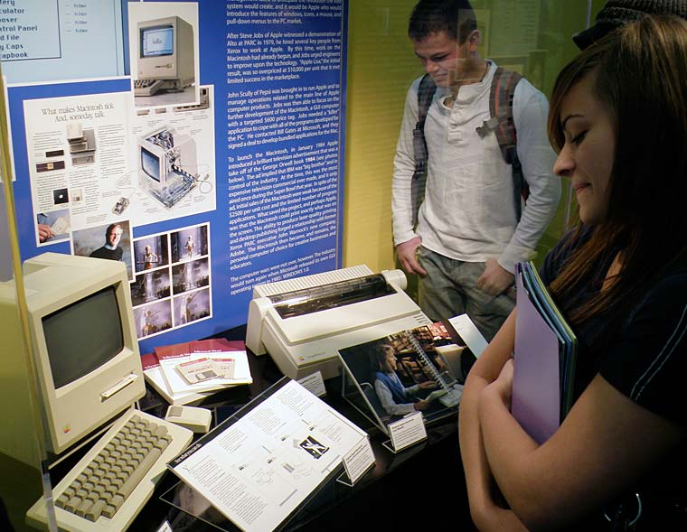 One of our exhibits features a look back at the personal computer.
