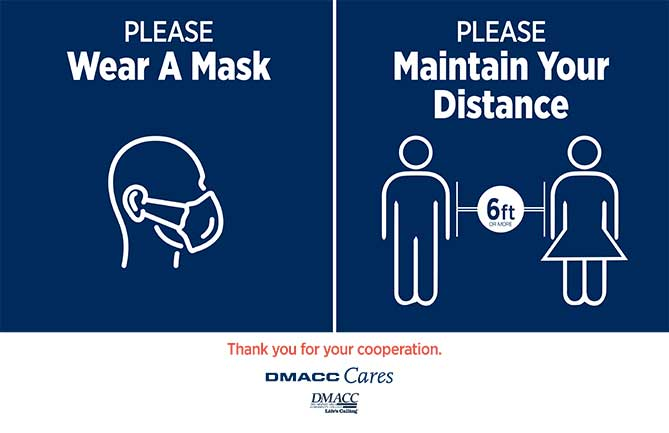 Please wear a mask. Please maintain your distance