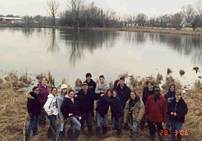 Field Biology Class at Carney Marsh