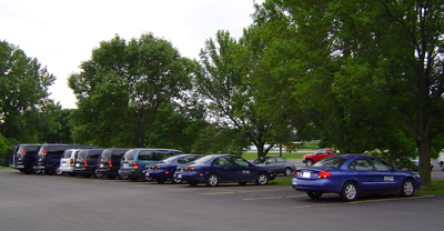 DMACC vehicles in parking lot