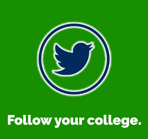 Follow your college on Twitter