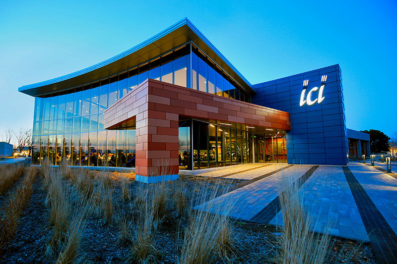 ici building at dusk