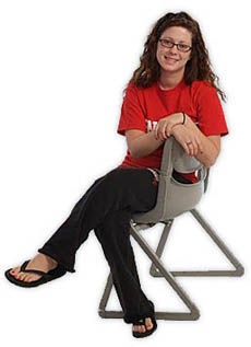DMACC student in chair