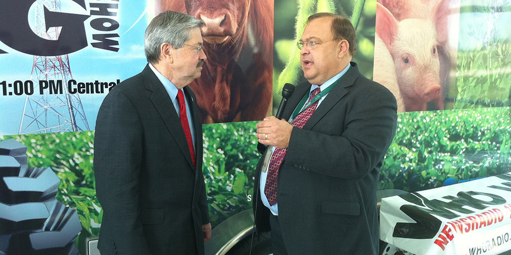 Mark Pearson (right) with former Iowa Governor Terry Branstad
