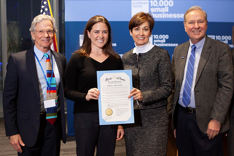 Goldman Sachs proclamation from Iowa Governor