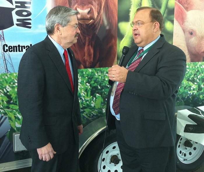 Mark Pearson and Terry Branstad