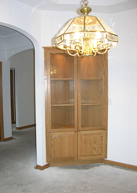 Dining Room Doorway and Cabinet