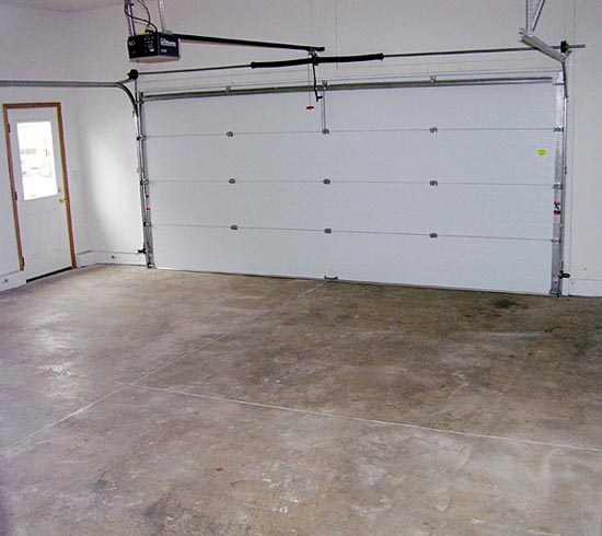 Inside of garage
