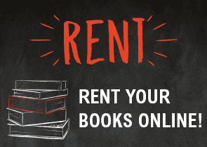 Rent your books online - we're more than just a book store - shop for clothing, gifts, t-shirts, supplies
