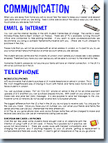 Communication information - click to view