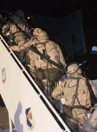 Soldiers Departing